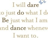 dare - do - be - dance