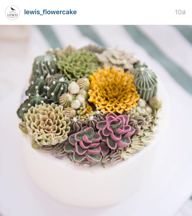 Korea 3D flower buttercream cake