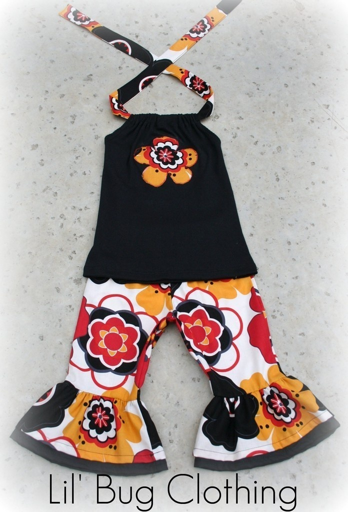 Custom Boutique Clothing Black Mocca Girls by LilBugsClothing, $32.00