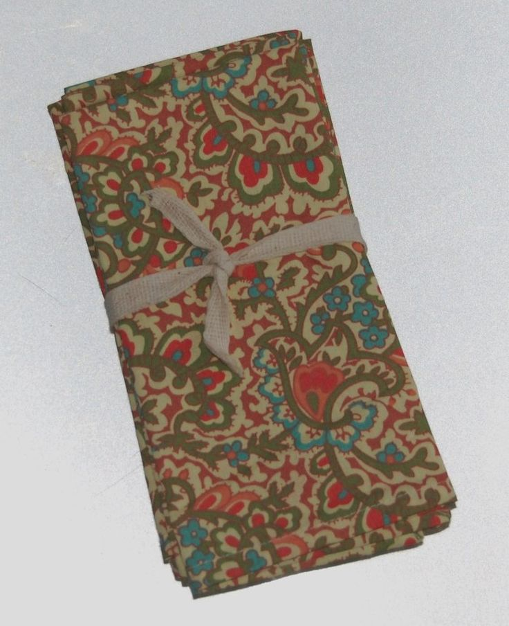 April Cornell Paisley Floral 100% Cotton Napkins Set of 4 NEW NWT