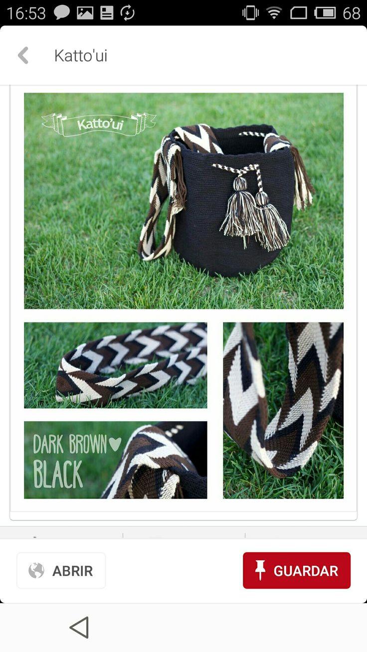 Wayuu bag black