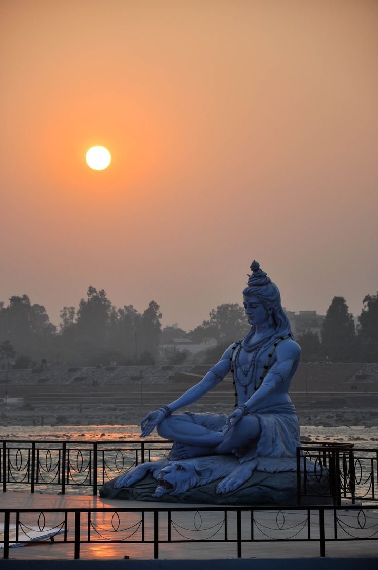 Sunset Over the Ganges, Rishikesh, India. Har Har MahaDev  Beautiful