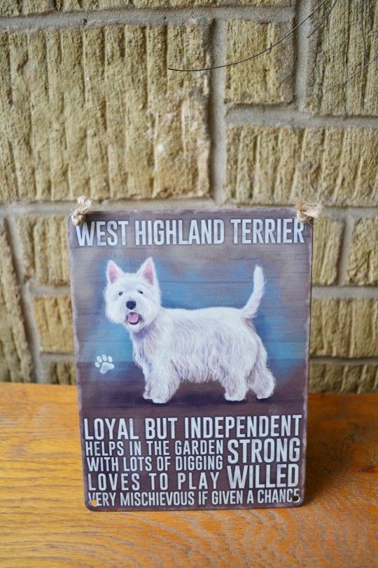 West Highland Terrier Metal Sign
