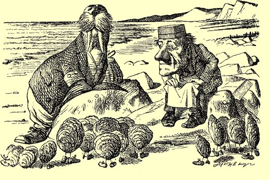 Graphic - the Walrus and the Carpenter by Sir John Teniel