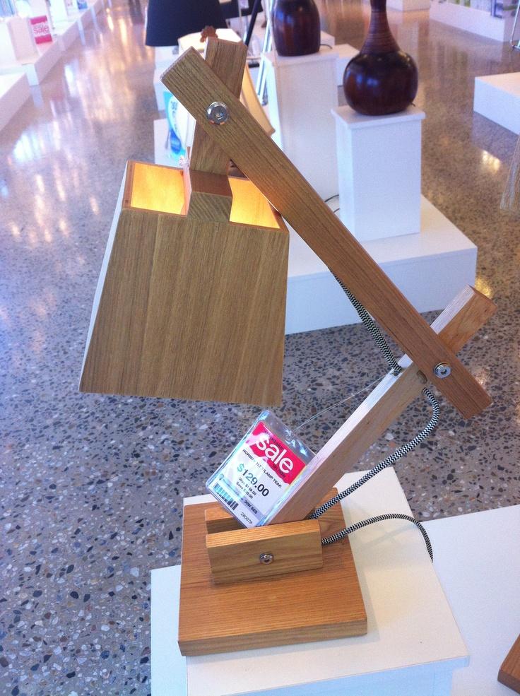 Nice Wooden Desk Lamp