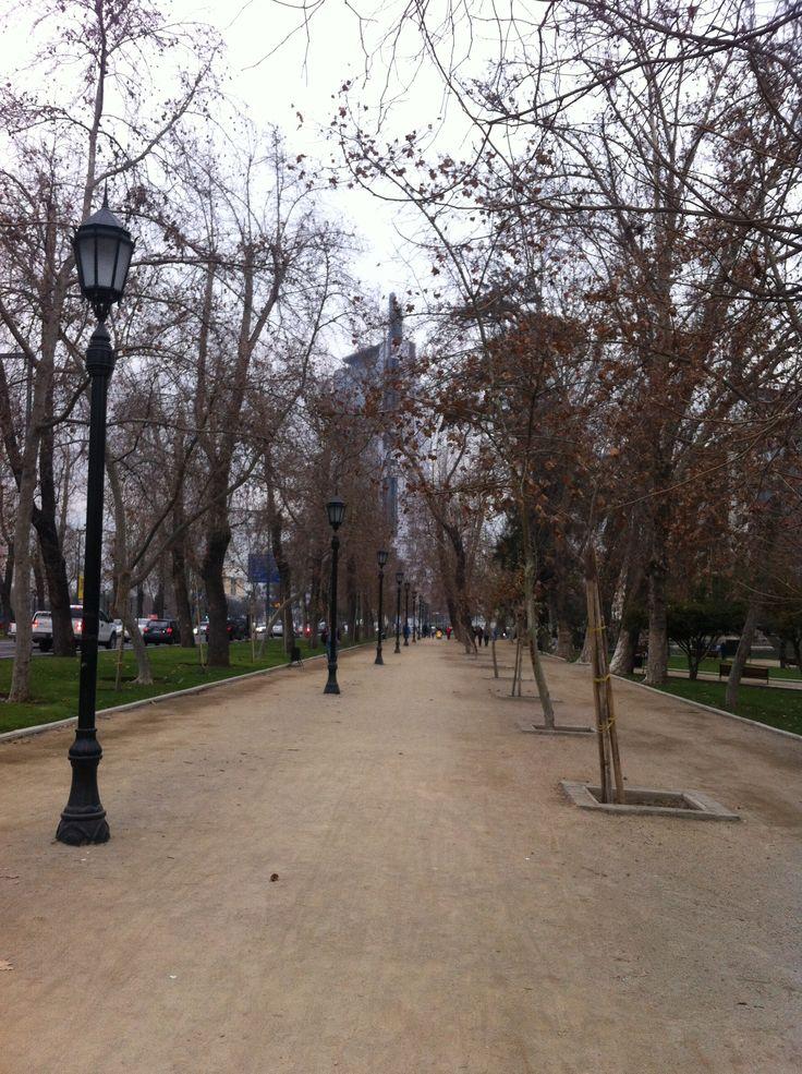 Parque Forestal, Santiago, Chile.