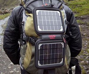 Apart from water, the solar powered backpack charger is one accessory your don't want to be without when venturing into the wild. This compact and lightweight charger easily fits in any bag and provides enough juice to charge up to four different electronic devices.