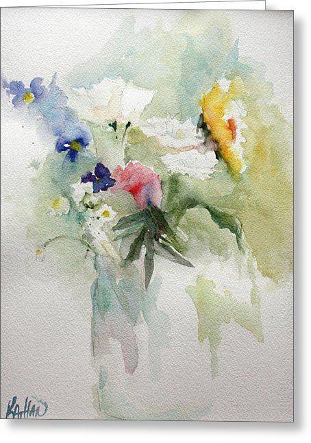 Vase Of Flowers Greeting Card by Kathleen Hartman