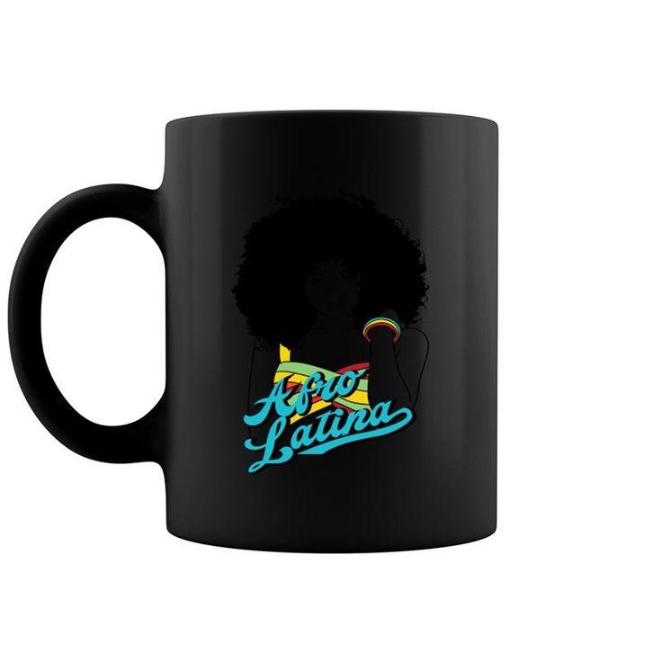 Afro Latina – Schwarzes Mädchen mit dem natürlichen Ha Kaffee Haferl 11 Unze