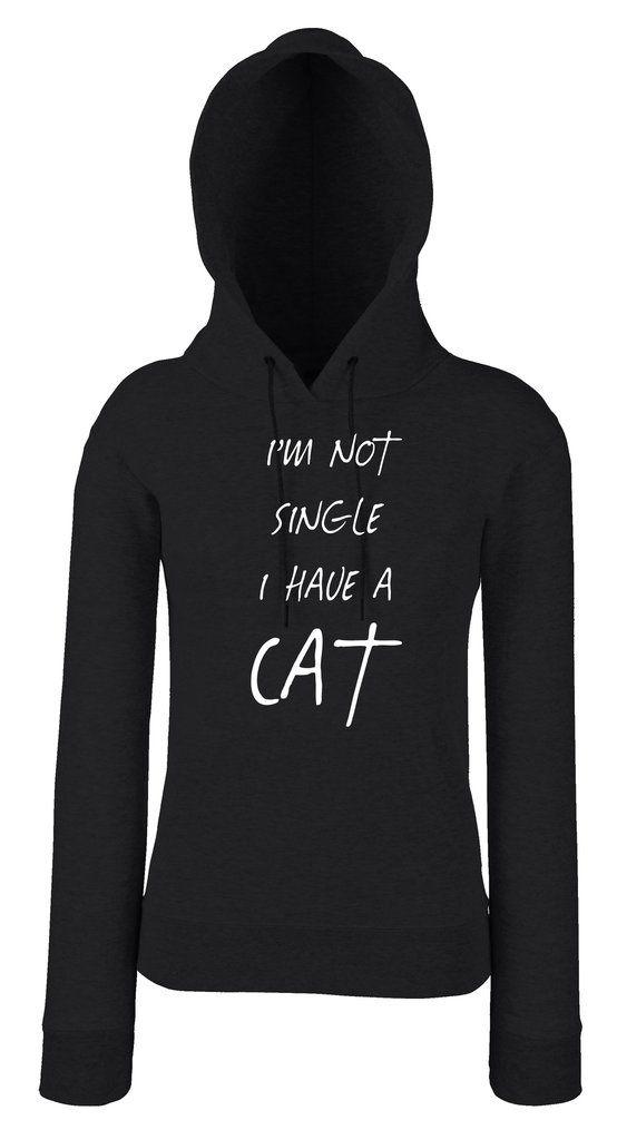I'M NOT SINGLE I HAVE A CAT női pulóver – SARCASTIC FANTASTIC