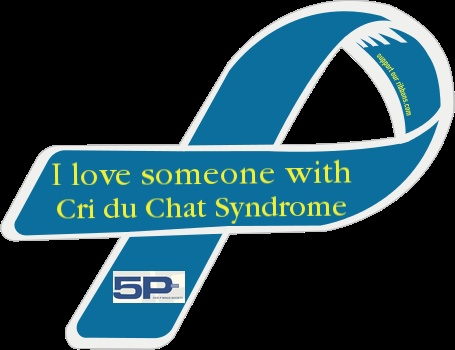 Custom Ribbon: I love someone with  / Cri du Chat Syndrome