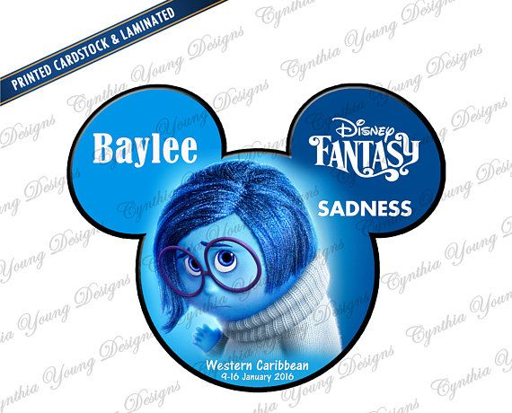Iron-On OR Magnet from Inside Out! Sadness Ears