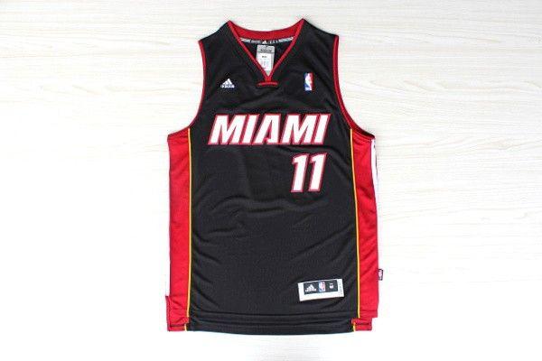 Camiseta de Basket Nueva NBA Miami Heat Chris Andersen #11 Negro