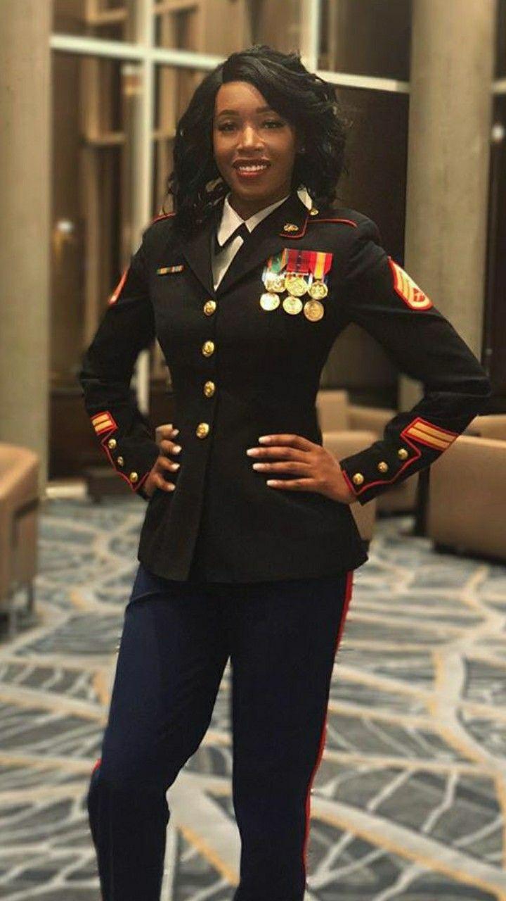 Pin By David Richardson On Outstanding Women Military Women Beautiful Black Women Black Girl Fashion [ 1280 x 720 Pixel ]