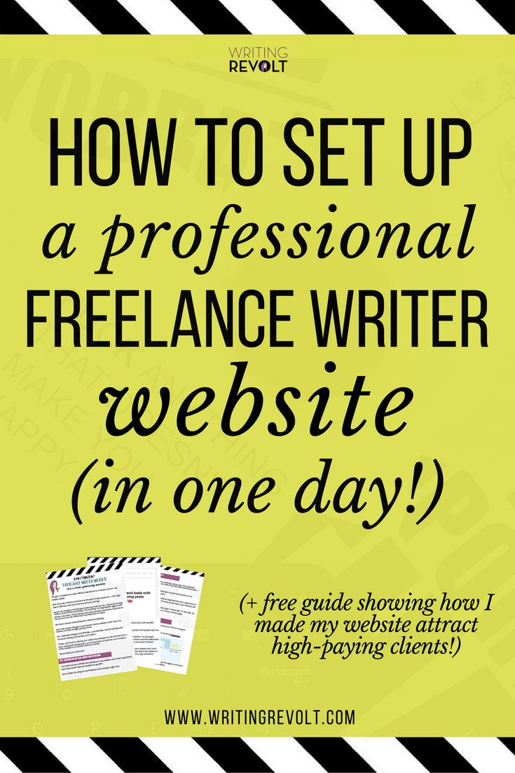 Creating a freelance writer website doesn't have to be scary and time-consuming. Check out this post – I'll walk you through the easy way to set it up fast! (If you're a freelance writer wanting to learn about creating a portfolio site, you need to read this!)