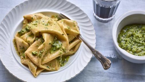 BBC Food - Recipes - Silk handkerchief pasta with pesto