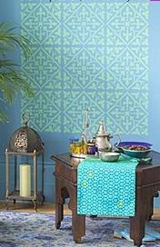 gothic stencil pattern with maroccan feel