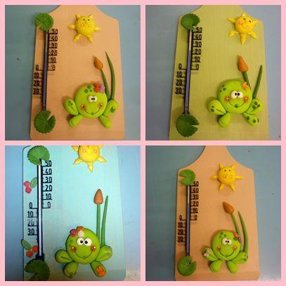 Planche grenouille et thermomètre