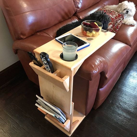 Couch Table With Remote Control Holder Tablet Magazine Rack And Cup Holder Diy Ad Cupholder Couch Table Remote Control Holder Tv Dinner Table