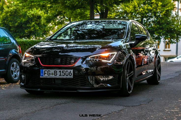 Seat leon 5f, Chemnitz, concave felgen, black car, us carnight, original felgen