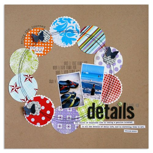 Circle LayoutBluestardesign 2Peasinabucket, Layout Ideas, Circles Scrapbook Layout, Covers Scrapbook Design, Circles Cutters, Circles Punch, Scrapbook Gallery, Scrapbook Pages, Baby Shower Cards