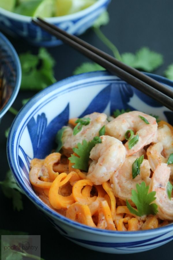 70 best seafood images on pinterest seafood meals recipes and thai red curry coconut shrimp with sweet potato noodles forumfinder Gallery