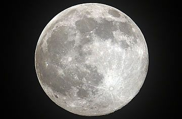 The bright shinning moon.