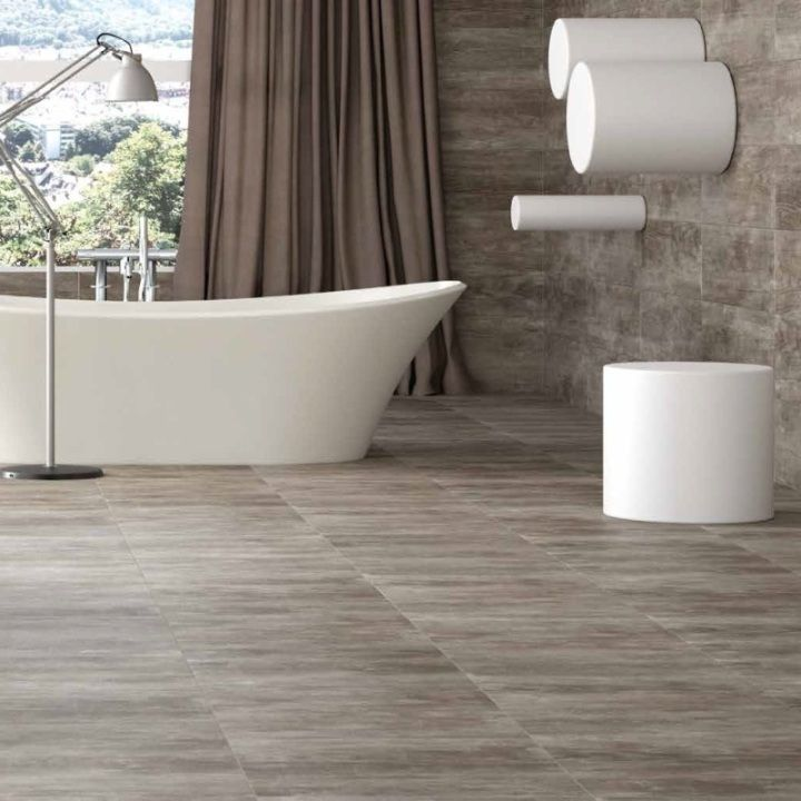 these gloss floor tiles are ideal for inspiring kitchen flooring ideas and look stylish as bathroom tiles but care must