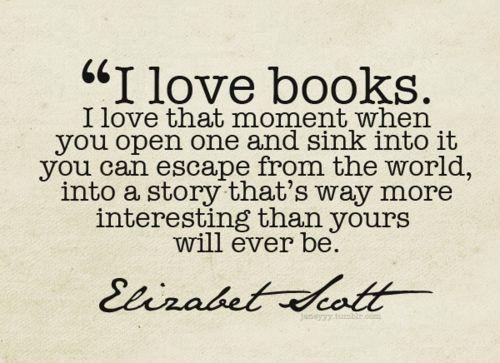 I love books too