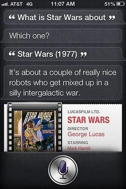 I wish i had Siri / Siri talk about Star Wars