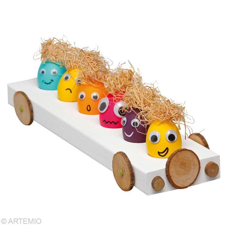 Bricolage de Pâques : oeuf de pâques drôle