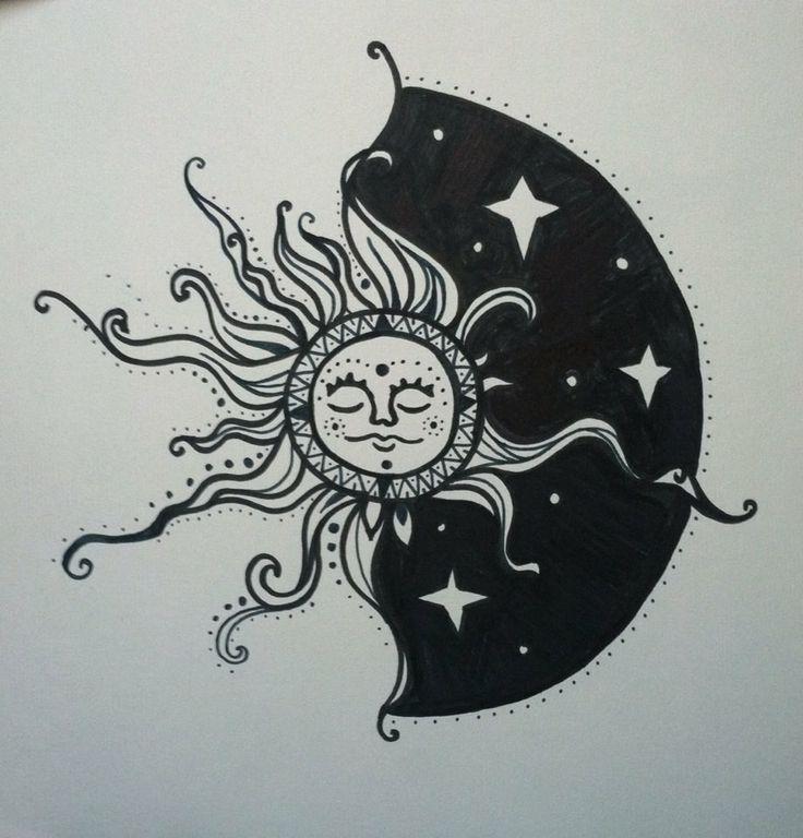 Sun & Moon Drawing | Tattoos! | Pinterest | Sun moon ...