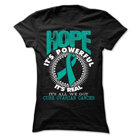 Hope1 - Ovarian Cancer - #hoodies #the first tee. WANT THIS => https://www.sunfrog.com/LifeStyle/Hope1--Ovarian-Cancer-Ladies.html?60505