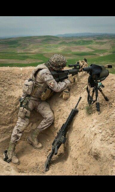 Francotirador español en Afganistán