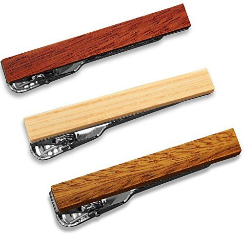 Mens Bodegas Passion for Being at the Forefront of Mens Fashion Accessories Brings you this 3 Piece Set of Wooded Tie Clips from Puentes Denver. Perfect Fit
