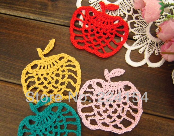Aliexpress.com : Buy 20 pcs/lot Color Options Crochet apple doilies On Sales nice doily for wedding decoration FREE SHIPPING!!! from Reliable apple doilies suppliers on Handmade Shop $9.60