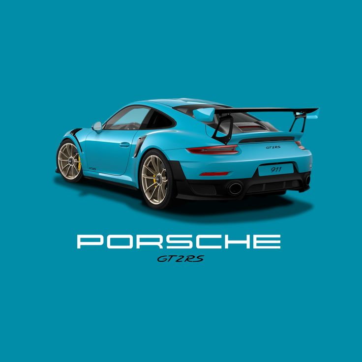 Porsche GT2 RS, Miami Blue, White Gold GT2 Forged Alloys