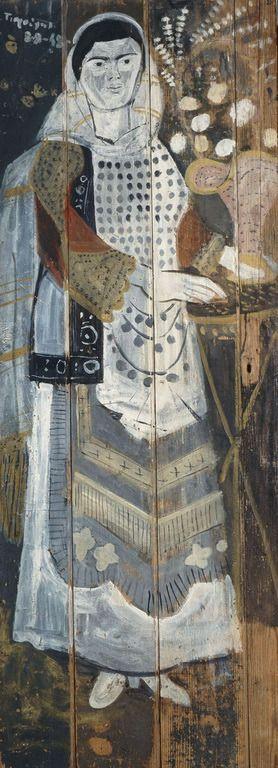 ΓΙΑΝΝΗΣ ΤΣΑΡΟΥΧΗΣ Κουντουριώτισσα ή Γυναίκα από την Ελευσίνα, 1948.