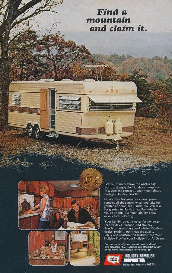 1973 Holiday Rambler RV Print Ad Vintage by AdVintageCom on Etsy