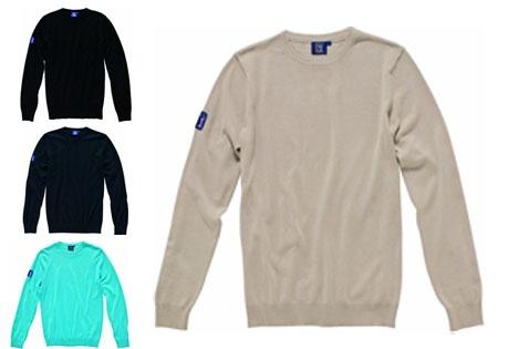 Jersey de cuello redondo 100% algodón.