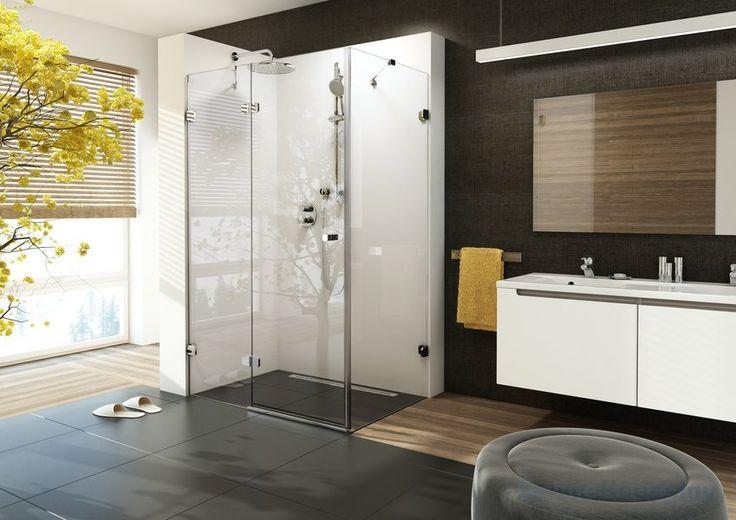 Ravak Brilliant - Sprchové dveře dvojdílné s pevnou stěnou BSDPS - 90 R, pravé, 883-895 mm, barva chrom, sklo transparent 0UP77A00Z1 - OnlineKoupelny.cz