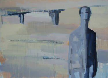 """Saatchi Art Artist Jan Valer; Painting, """"blending with the landscape"""" #art"""
