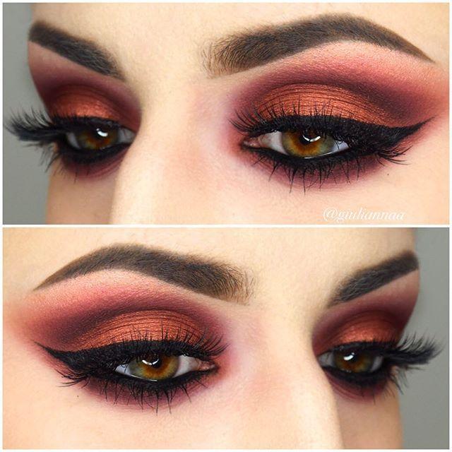 @anastasiabeverlyhills brows @vegas_nay grand glamour lashes, @makeupgeektv @makeupgeekcosmetics eyeshadows in cupcake, wisteria, bitten, and roulette