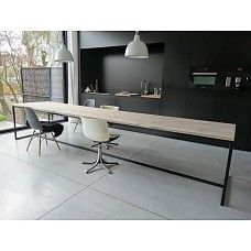 PURE wood design PURE industriele tafel steigerhout/stalen frame