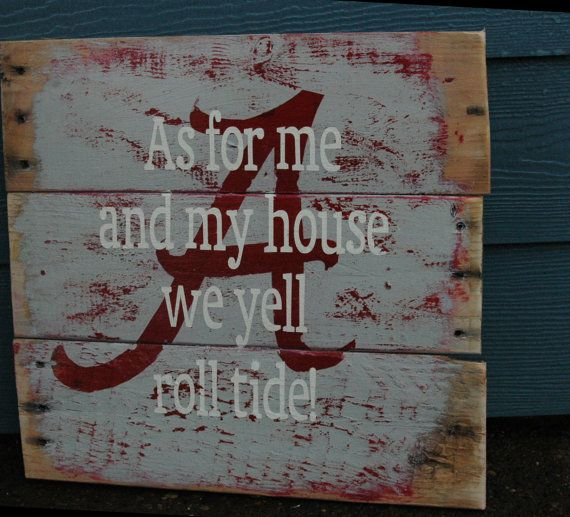 Alabama Rustic wood sign ALL PAINTED by AllMyGoodness on Etsy, $36.00