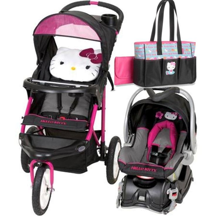 baby jogger hello kitty jogger black pink travel system single seat stroller diaper bags car. Black Bedroom Furniture Sets. Home Design Ideas