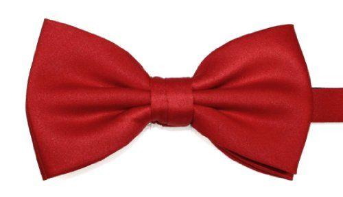 (Satin) Elegant Extras Pre-tied Plain Bright Red Bow Tie Elegant Extras http://www.amazon.co.uk/dp/B00C0RD73I/ref=cm_sw_r_pi_dp_voi0wb0A8GMJ8