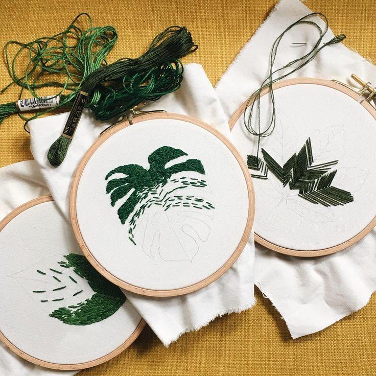 Leaves  #casnac #kasnak #nakış #işleme #elyapımı #zet #handembroidery #handembroidered #handmadeisbetter #HandmadeLoves #handembroider #handstitched #handcrafted #contemporaryembroidery #contemporaryart #hoopart #embroideryhoops #embroider #embroidery #embroidered #embroideredart #embroideryart #etsy #homedecor #homeinteriors #leaf #leaves #monstera #deliciosa #green