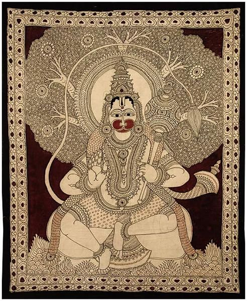 Indian Painting Styles...Kalamkari Paintings (Andhra Pradesh)-hanuman-big1.jpg