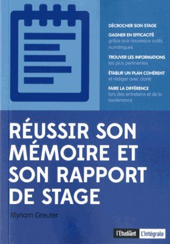 Réussir son mémoire et son rapport de stage / Myriam  Greuter, 2014. http://bu.univ-angers.fr/rechercher/description?notice=000606795